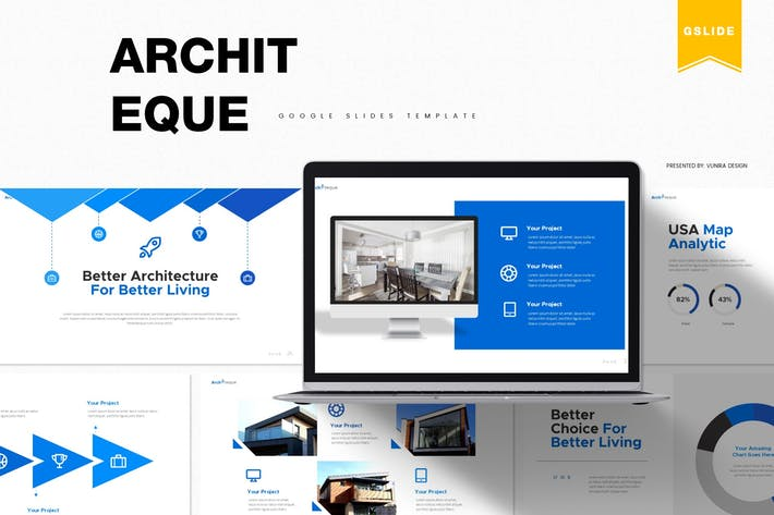 Thumbnail for Architeque | Google Slides Template