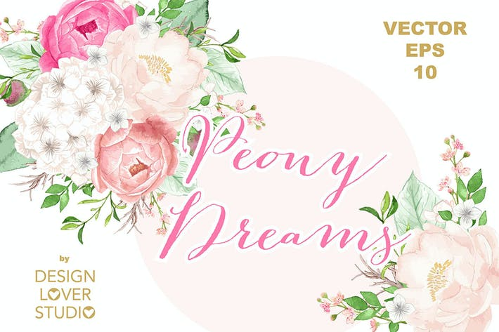 Thumbnail for Vector Watercolor Rose Blush clipart