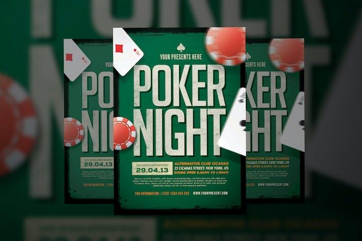 Thumbnail for Poker Night Flyer