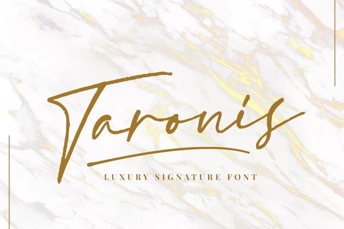 Thumbnail for Taronis Signature Font