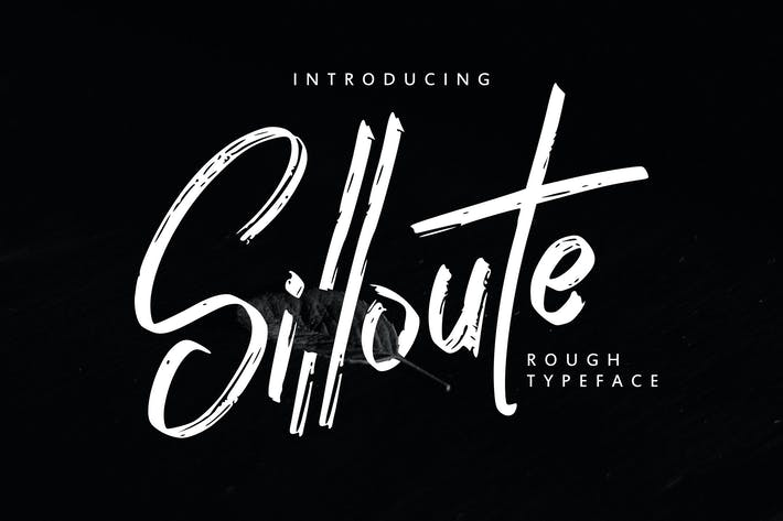 Thumbnail for Silloute   Rough Style Script