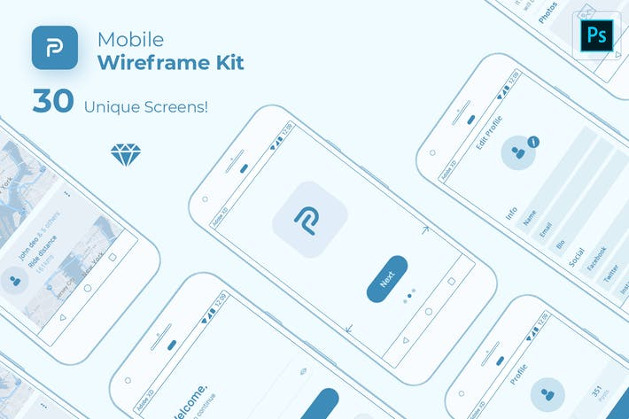 Thumbnail for Pride Mobile Wireframe Kit