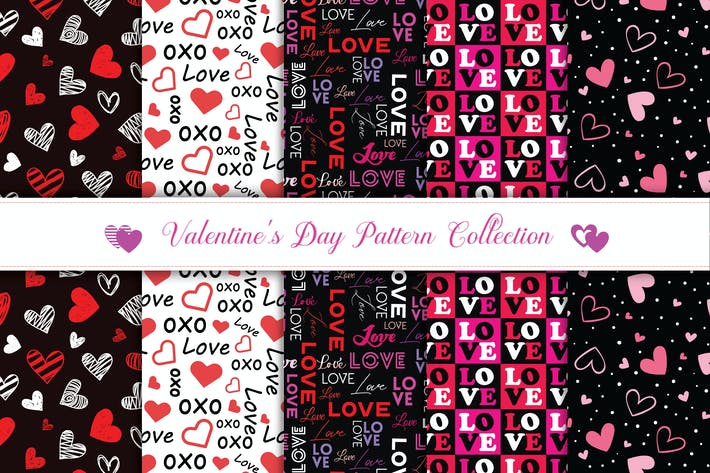 Thumbnail for Valentine's day pattern collection v4