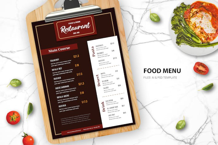 Thumbnail for Restaurant Menu Nourriture