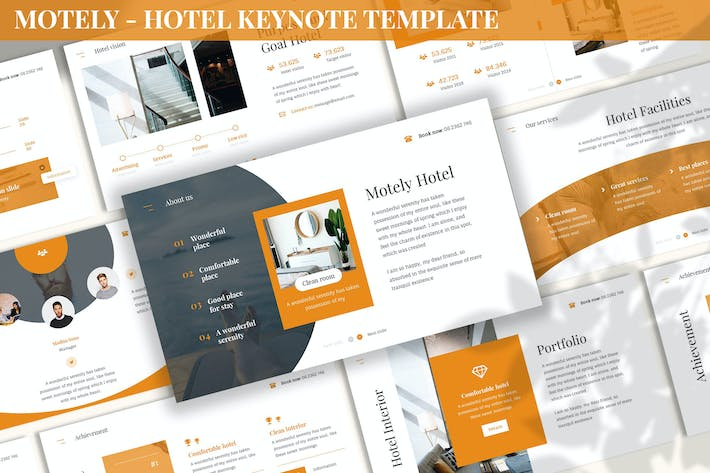 Thumbnail for Motely - Hotel Keynote Template