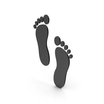 Symbol Footprint Black