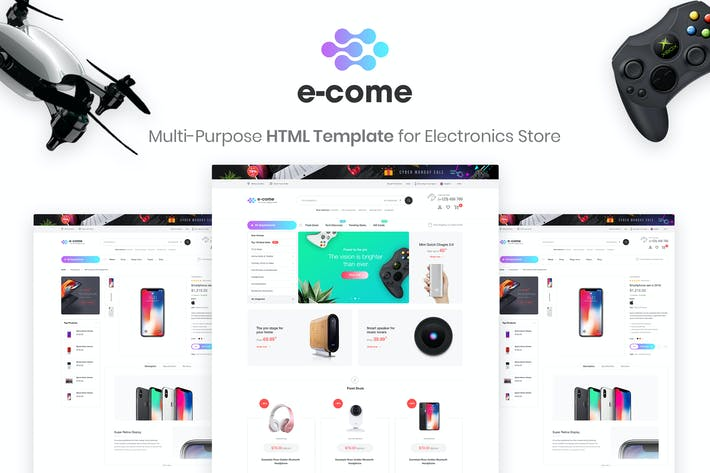Thumbnail for E-come | Electronics Store HTML Template