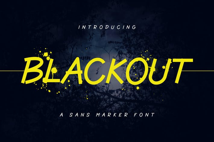 Thumbnail for Blackout - Fuente de marcador Sans