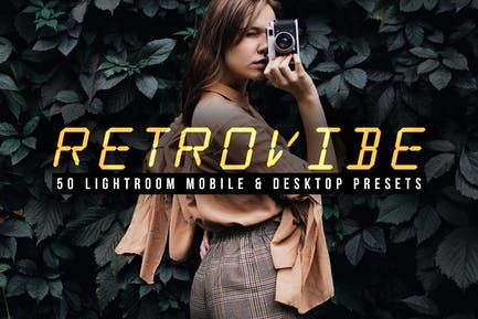 50 Retrovibe Lightroom Presets and LUTs