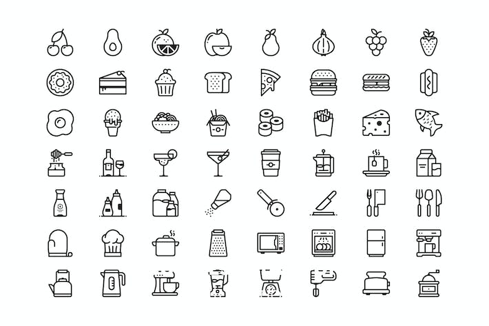 Thumbnail for 56 Kitchen and food icons