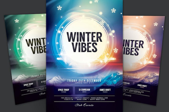 Cover Image For Winter Vibes Flyer