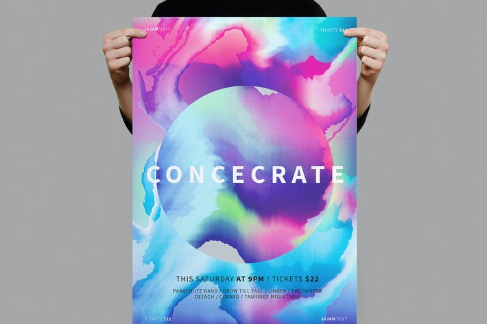 Cover Image For Concecrate Poster / Flyer