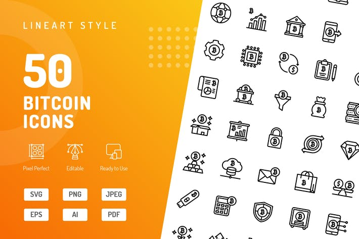 Thumbnail for Bitcoin Line Icons