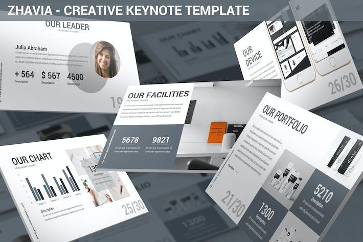 Thumbnail for Zhavia - Creative Keynote Template
