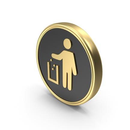 Icono del Logo del símbolo de la moneda de la camada