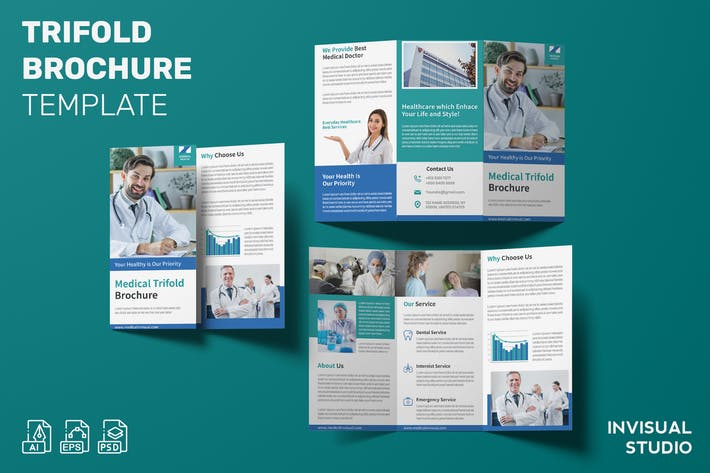 Medical - Trifold Brochure Template