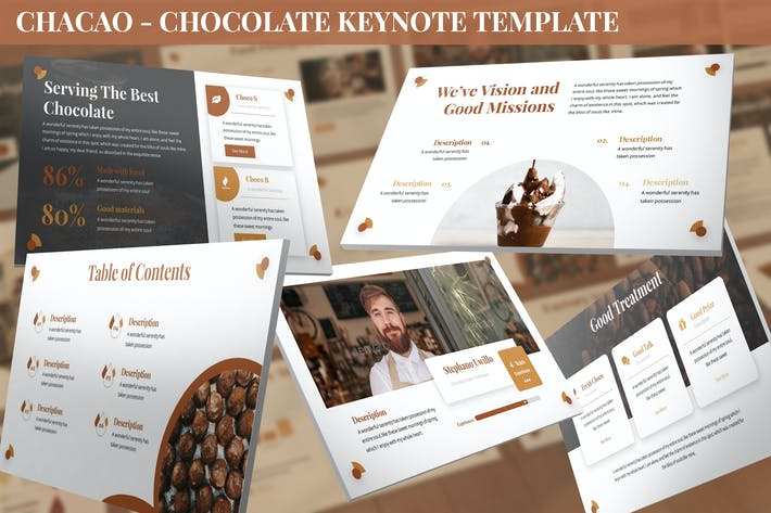 Thumbnail for Chocao - Chocolate Keynote Template