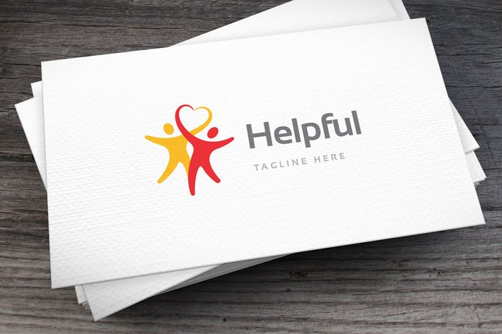 Cover Image For Helpful Heart Logo Template