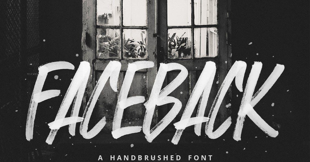 Download Faceback - SVG Brush Font by sameehmedia