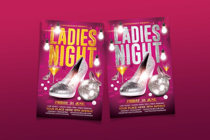 Thumbnail for Ladies / Girls Night Flyer