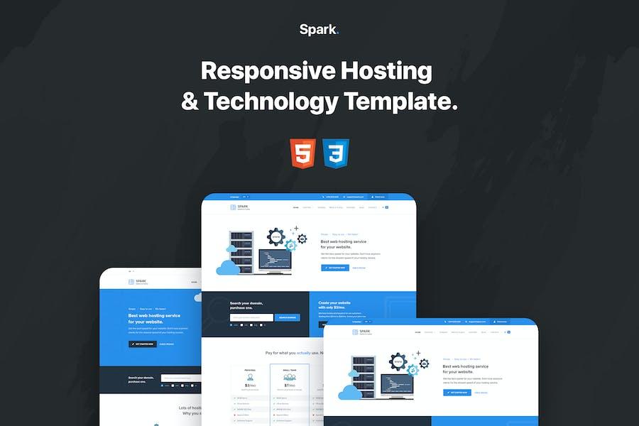 Spark - Responsive Hosting & Technology Template