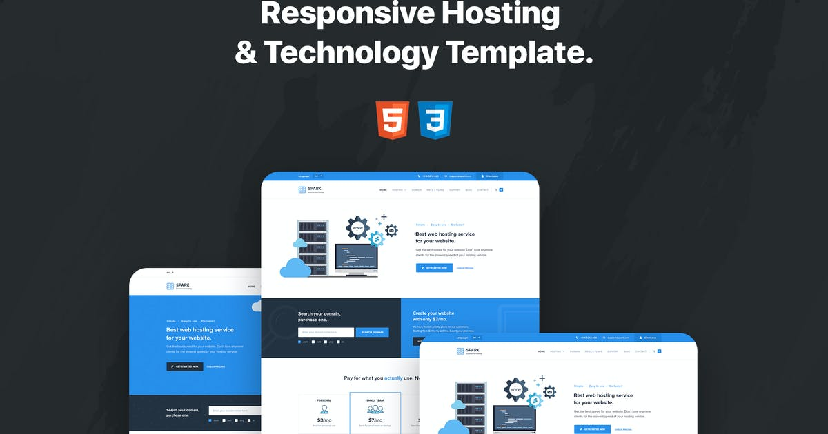 Download Spark - Responsive Hosting & Technology Template by teamuxtheme