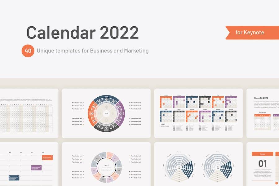 Calendar 2022 templates for Keynote