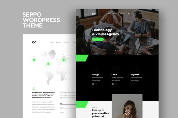 Thumbnail for Seppo - Corporate One Page WordPress Theme