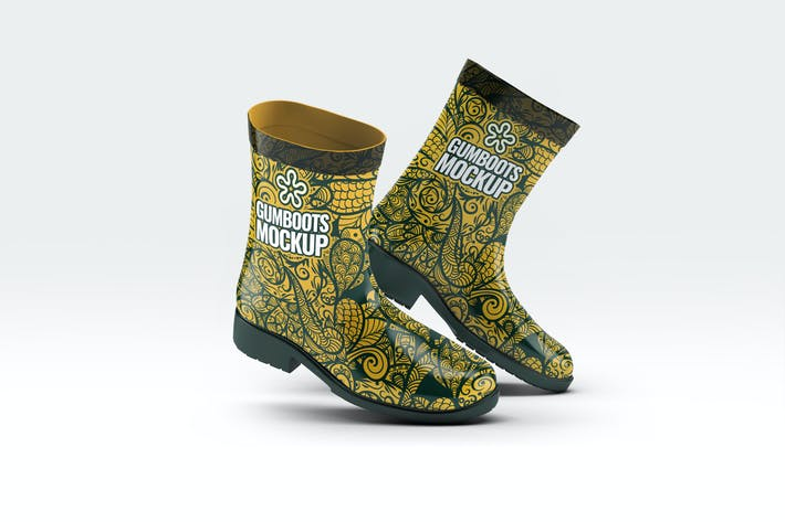 Thumbnail for Short Ankle Gumboots Mock-Up