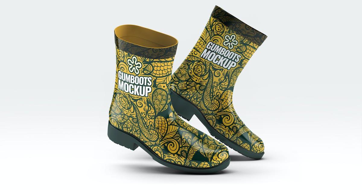 Download Short Ankle Gumboots Mock-Up by L5Design