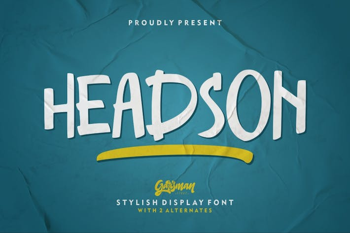 Thumbnail for Headson | Дисплей шрифт
