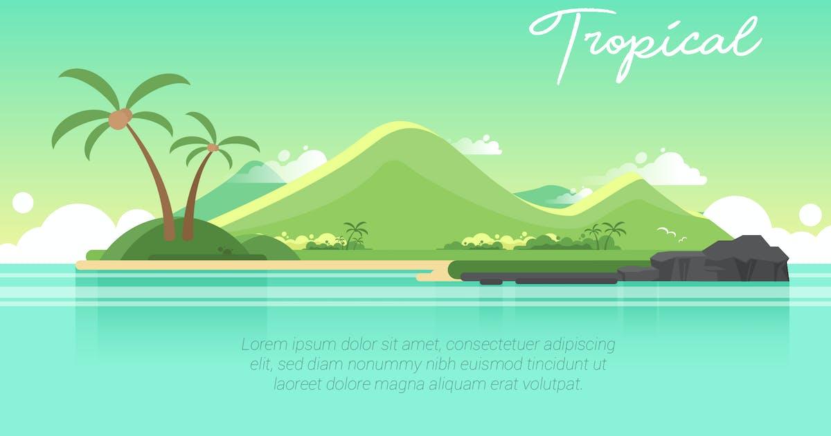 Download Tropical - Vector Landscape & Building by aqrstudio