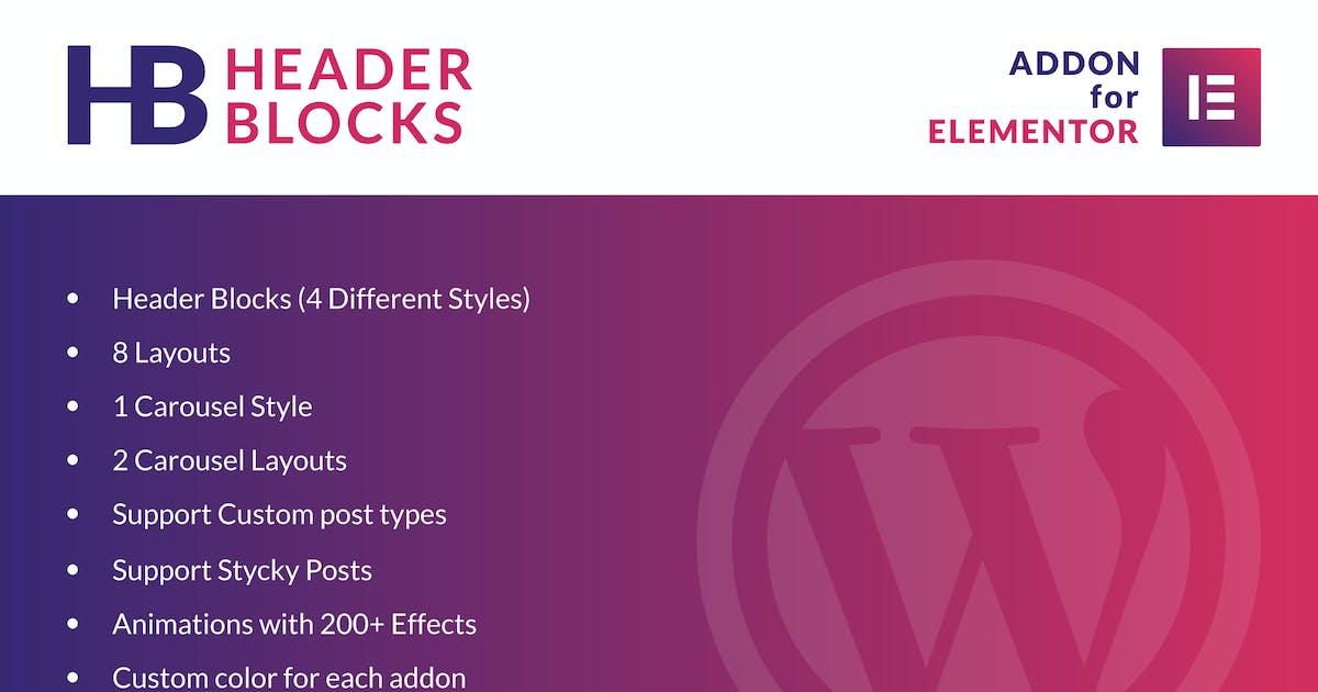 Download Header Blocks for Elementor - WordPress Plugin by ad-theme