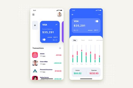 My Wallet Mobile App UI Kit Template