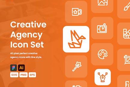 Creative Agency Icon Set