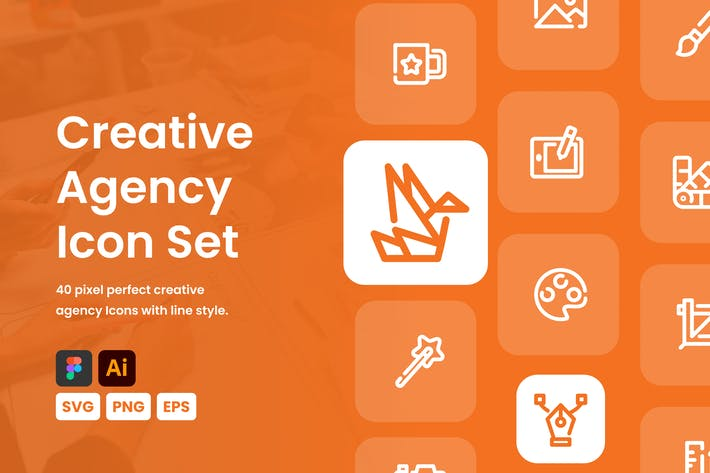 Набор иконок креативного Агентство