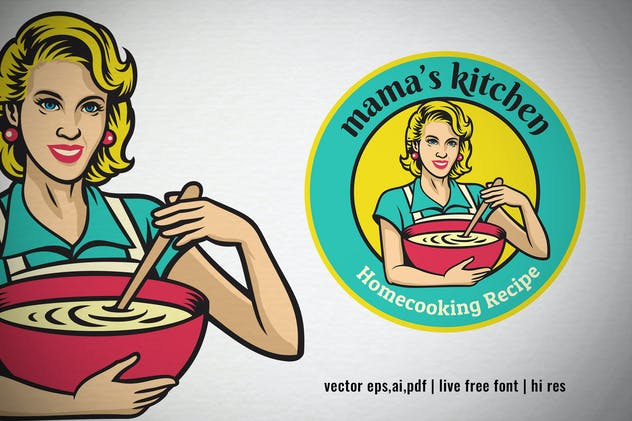 Vintage Logo of Mama's Kitchen