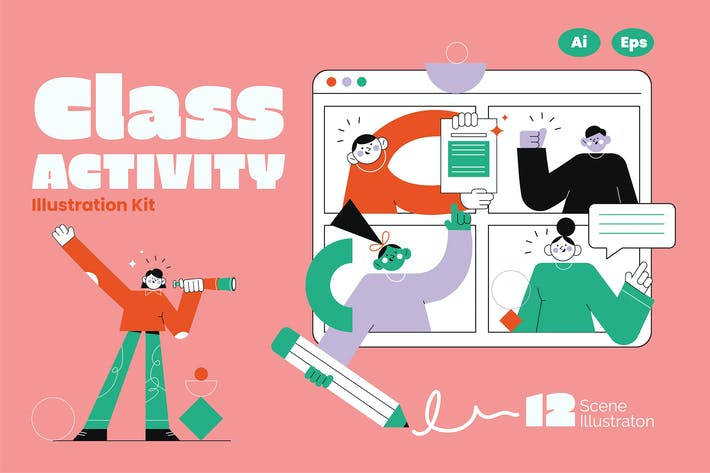 Thumbnail for Class Activity Graphic Illustration