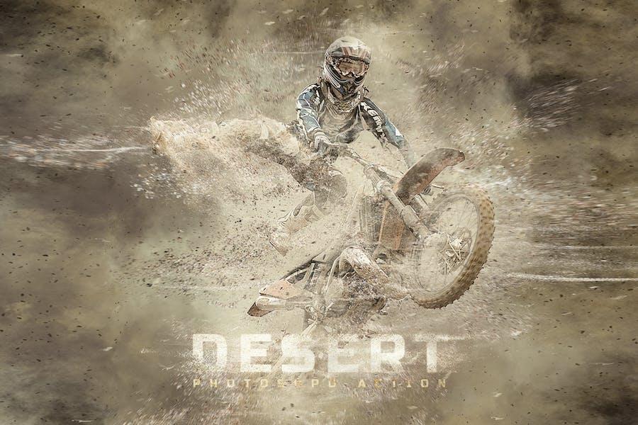 Acción de Photoshop del desierto