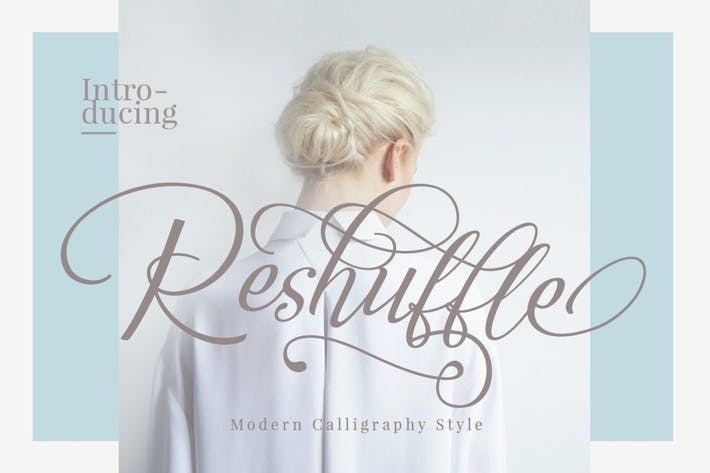 Thumbnail for Reshuffle Script Font Luxury Elegant