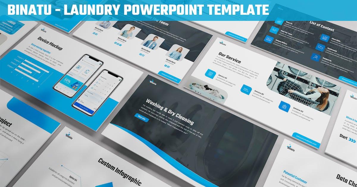 Download Binatu - Laundry Powerpoint Template by SlideFactory