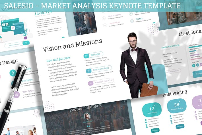 Cover Image For Salesio - Market Analysis Keynote Template