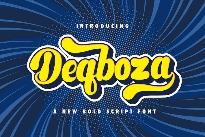 Thumbnail for Deqboza - Retro Bold Script Font