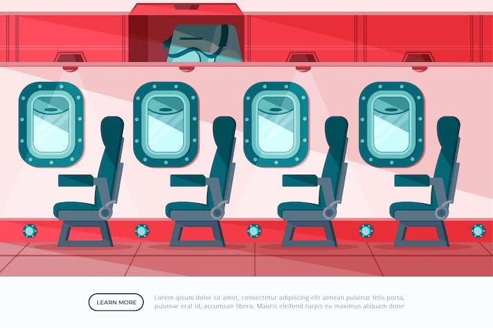 AirPlane - Interior Background Illustration