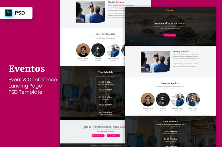 Thumbnail for Event & Conference - Landing Page PSD Template-05
