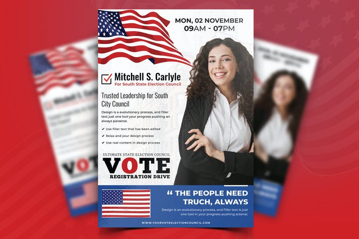 Thumbnail for Political Campaign Flyer Vol.02