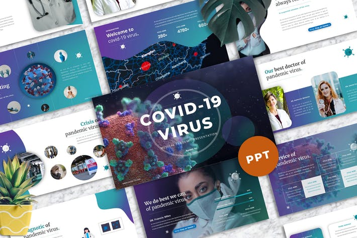 Covid-19 Virus  - Medical PowerPoint Template