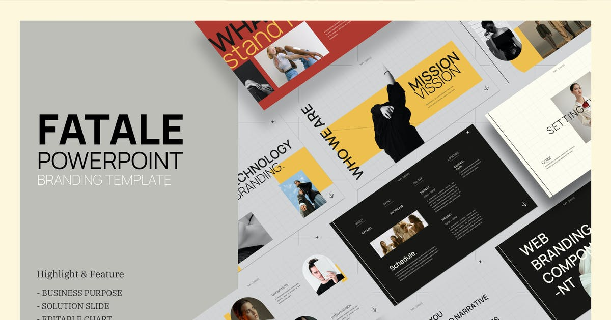 Download Fatale Powerpoint Branding Template - JJ by TempCraft