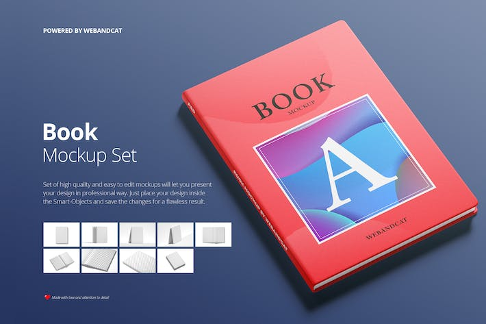 Cover Image For Book Mockup Set