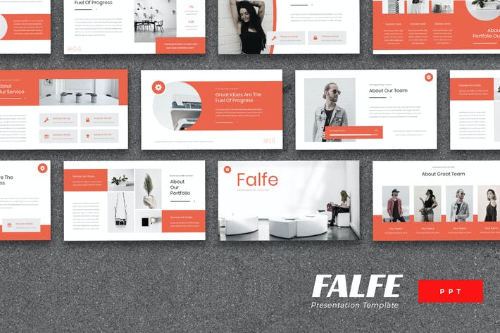 Thumbnail for Falfe - Creative Agency Powerpoint Template